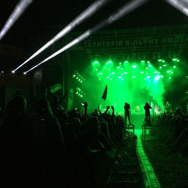 Blick vom FOH zur Bühne