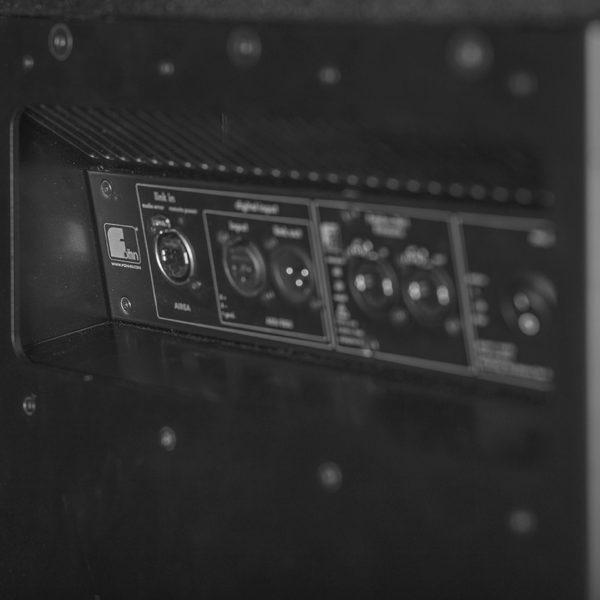 Lautsprecher Fohhn Focus Venue - Detailansicht Anschlüsse